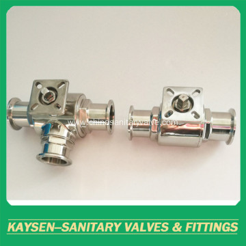 Sanitary Two Way Ball Valve Ferruled Mounting Pad